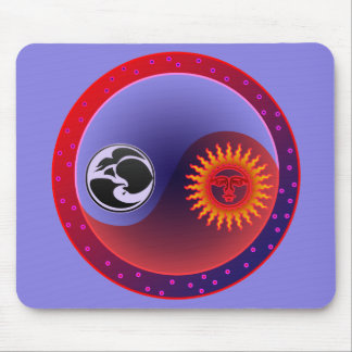 Sun and Moon in Balance Mouse Pad