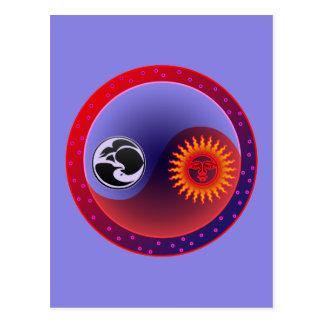 Sun and Moon in Balance Postcard