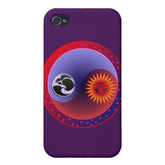 Sun and Moon in Balance Yin Yang iPhone 4/4S Cases