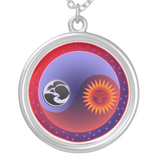 Sun and Moon in Balance Yin Yang Necklace