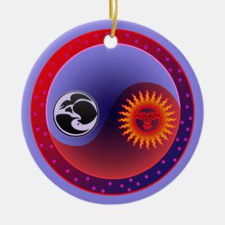 Sun and Moon in Balance Yin Yang Ornament