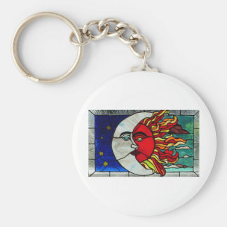Sun and Moon Key Chains
