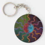 Sun and Moon keychain