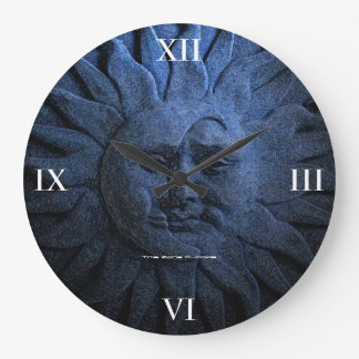 Sun and Moon Large Wall Clock