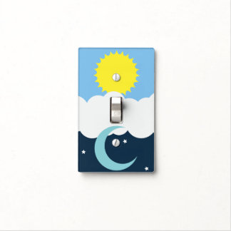 Sun and Moon Light Switch Light Switch Plates