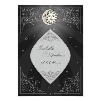 Sun and Moon Love - classic wedding invitation