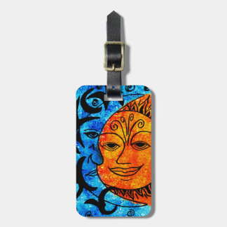 Sun and Moon Luggage Tag