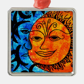Sun and Moon Metal Ornament