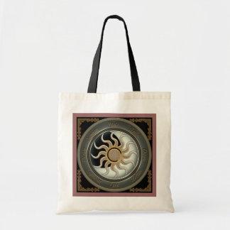 Sun and Moon Pagan Wheel Tote Bags