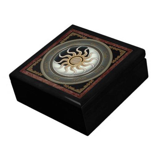 Sun and Moon Pagan Wheel Gift Box