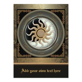 Sun and Moon Pagan Wheel Oversized Invitation