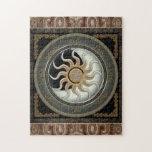 Sun and Moon Pagan Wheel Puzzle