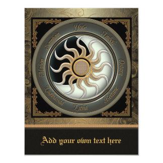 Sun and Moon Pagan Wheel Small Invitation