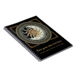 Sun and Moon Pagan Wheel Spiral Note Book