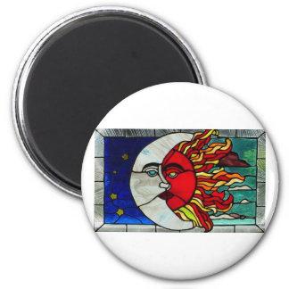 Sun and Moon Refrigerator Magnet