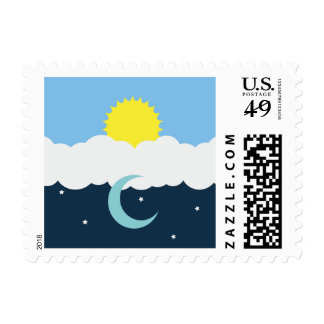 Sun and Moon Stamps