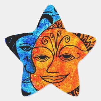 Sun and Moon Star Sticker