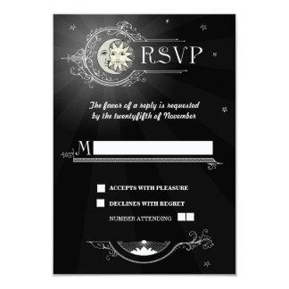Sun and Moon Wedding RSVP Card