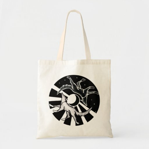 Sun and Moon Wolves Tote Bag