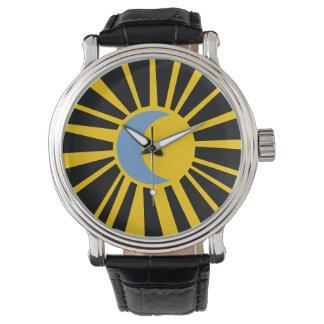 sun and moon wristwatch