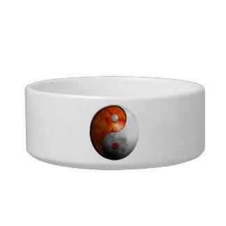 Sun and Moon Yin and Yang Symbol Bowl