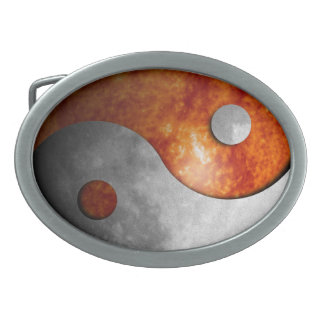 Sun and Moon Yin Yang Belt Buckle