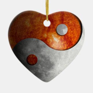 Sun and Moon Yin Yang (Customizable) Christmas Ornaments