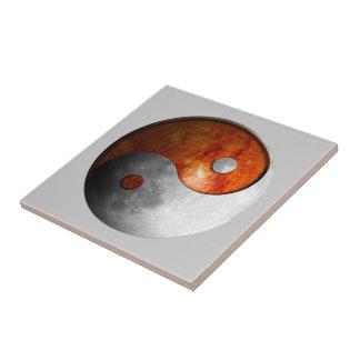 Sun and Moon Yin Yang (Customizable) Ceramic Tiles