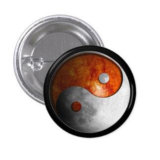 Sun and Moon Yin Yang Pinback Button