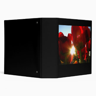 Sun and Red Petals 3 Ring Binder