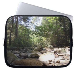 Sun and Shadow in a Creek Bed Computer Sleeve