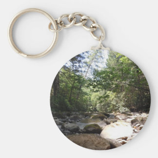Sun and Shadow in a Creek Bed Keychain