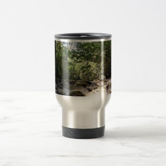 Sun and Shadow in a Creek Bed Travel Mug