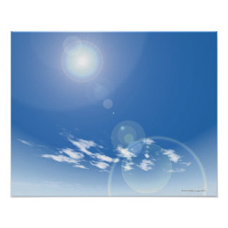 Sun and sky poster