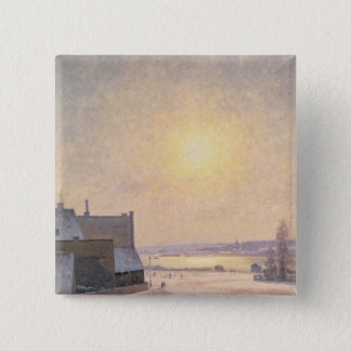 Sun and Snow, Scene from Stockholm Button