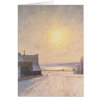 Sun and Snow, Scene from Stockholm Greeting Card