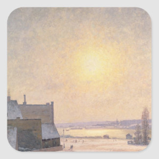 Sun and Snow, Scene from Stockholm Square Sticker