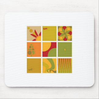 Sun and soil vector mouse pad