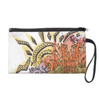 Sun and stars and doodle wristlet