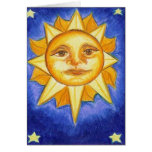 Sun and Stars Greeting Cards