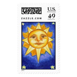 Sun and Stars Postage