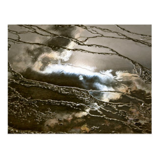 SUN AND STORM CLOUDS IN ABSTRACT POSTCARD