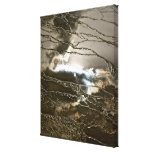 SUN AND STORM CLOUDS IN WATER ABSTRACT CANVAS PRINTS