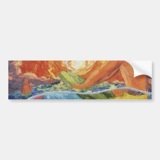 sun and surf bumper sticker