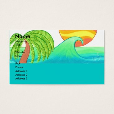 Professional Business Sun and Surf Business Card Template