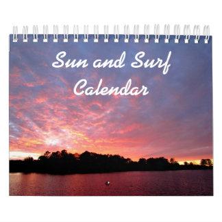 Sun and Surf Calendar
