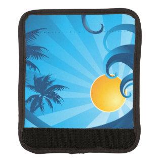 Sun and Surf Sea Wave Illustration Luggage Handle Wrap