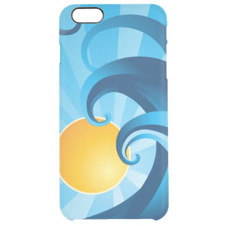 Sun and Surf Sea Waves Illustration Uncommon Clearly™ Deflector iPhone 6 Plus Case