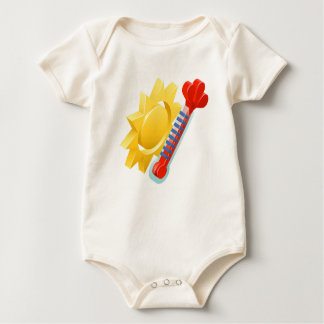 Sun and Thermometer Weather Icon Concept Baby Bodysuit