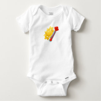 Sun and Thermometer Weather Icon Concept Baby Onesie